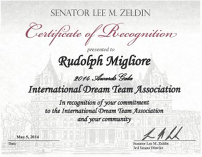 Certificate-of-Recognition-from-Senator-Zeldin-for-Rudolph-Migliore